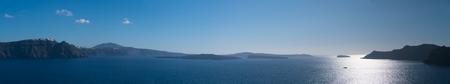 Sea view panorama and islands on horizon