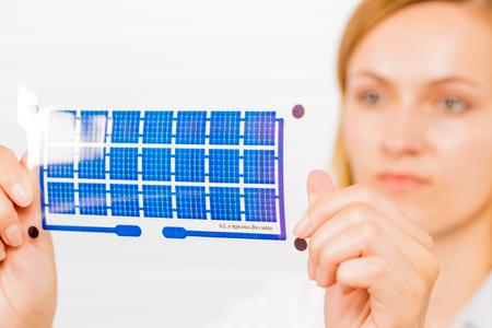 Solar cell on a flexible film basis in the design process