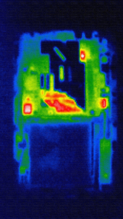 thermography: Mobile phone photo in infrared