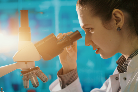 research laboratory medical lab microscope scientist science chemistry doctor scientific; Stock Photo - 76959335