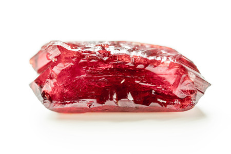 Natural mineral crystal red ruby 스톡 콘텐츠