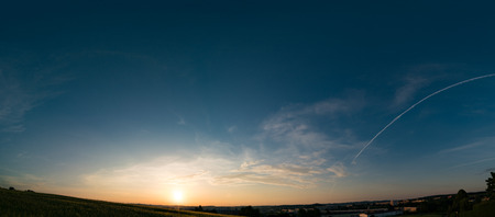 daybreak: Sunset, sunrise sky panorame