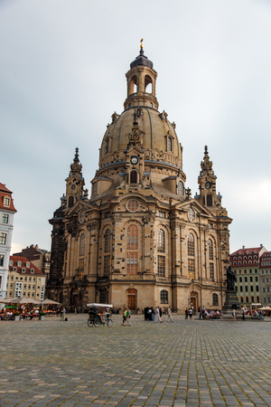 dresden: DRESDEN, GERMANY - June, 2016: Dresden - Cathedral, Germany