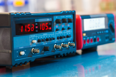 Electronic device for measuring electrical signals Stock Photo
