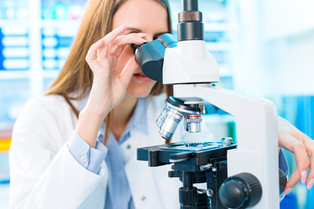 Fish caviar research in laboratory. Food Processing and Quality Control Fish Stock Photo - 82063304