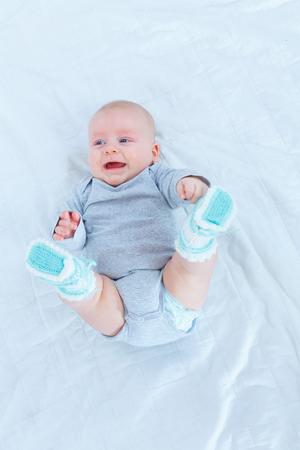 bedroom: Baby in the nursery Stock Photo