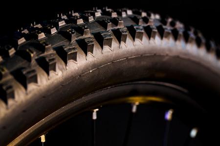 BERLIN, GERMANY - June 06, 2016: Details of the mountain bike MTB company Shimano Stock Photo