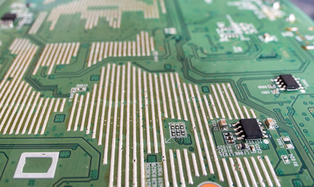 ic: Printed circuit Board with electronic elements