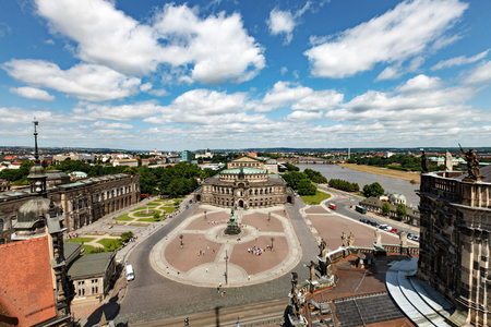 DRESDEN, GERMANY - June, 2016: Dresden - Semperoper, Germany