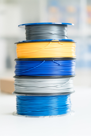 3d plastic filament for 3d printing Stock Photo - 87994493