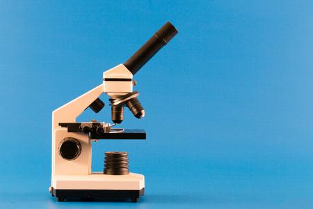 Scientific microscope in science laboratory