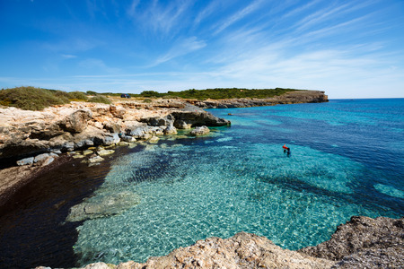 mallorca: Rocky beach in mallorca Rocky shore