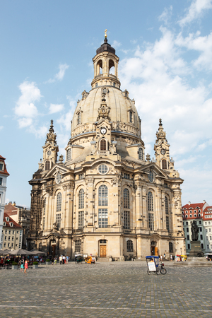 DRESDEN, GERMANY - June, 2016: Dresden - Frauenkirche, Germany