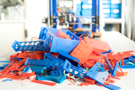 plastic wastes at 3D printing