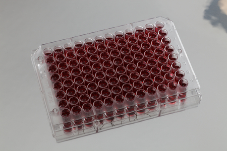 Pcr well plate with biological samples