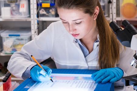 Research criminological laboratory Standard-Bild