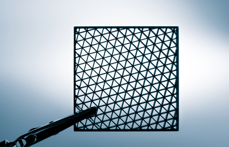 Sample metamaterial manufactured by 3dprinting