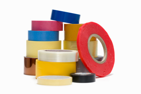 Painter and duct tape on a white background