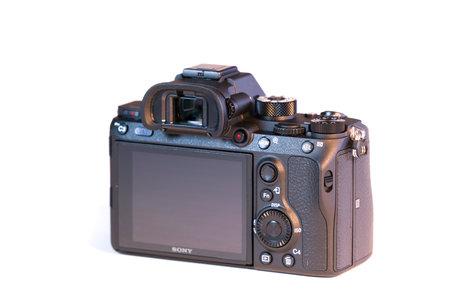 BERLIN, GERMANY - January 02, 2018: Sony a7R II Alpha Mirrorless Fast-focusing and 4K-shooting Digital Camera Editorial