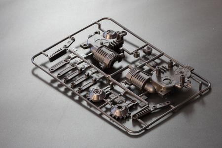 Industriële spuitgietpers de vervaardiging van plastic onderdelen Stockfoto - 94516578