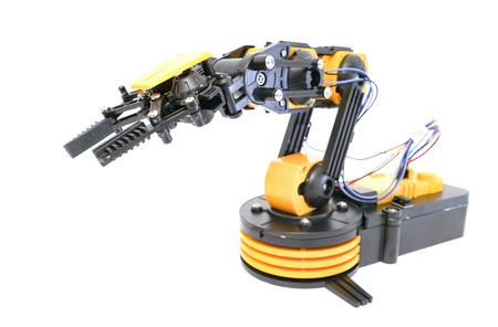 Plastic robot arm model Stock Photo