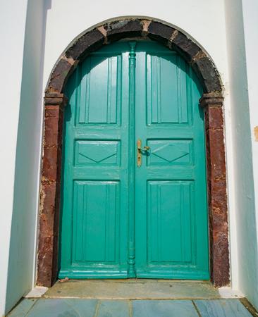 Architecture detail  in town Oia. Santorini Greece