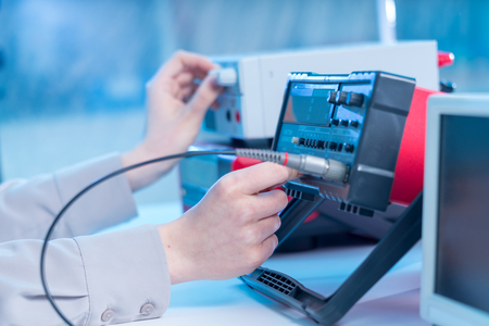 The use of measurement in the electronics laboratory 스톡 콘텐츠