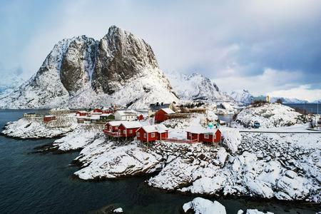 Reine fishing village in Lofoten, Norway Stock Photo