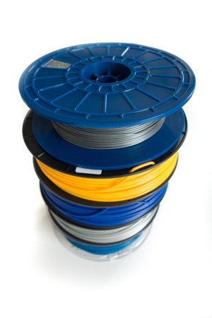 3d plastic filament for 3d printing Stock Photo - 97335558
