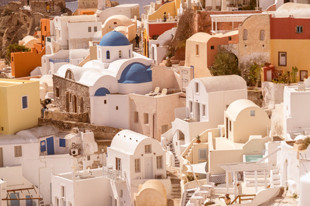 Traditional decoration element in Oia village, Santorini island, Greece Stock Photo