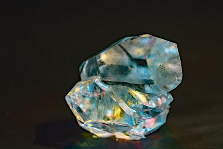 Gemstone nugget. Clear rough diamond Stock Photo