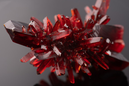 Red crystal. Natural mineral