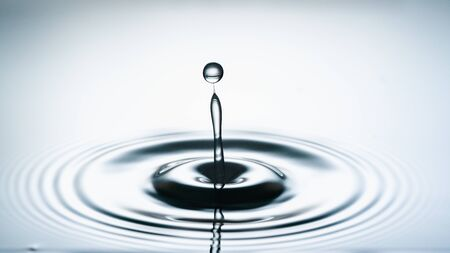 water drop collision. Water splash Stockfoto