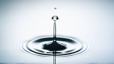 water drop collision. Water splash 写真素材