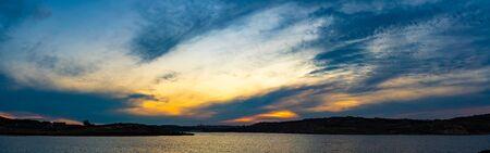 Sunset panorama over sea Beautiful cloudscape over the sea, sunrise  sunrise