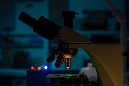 Scientific microscope in a nanotechnology laboratory