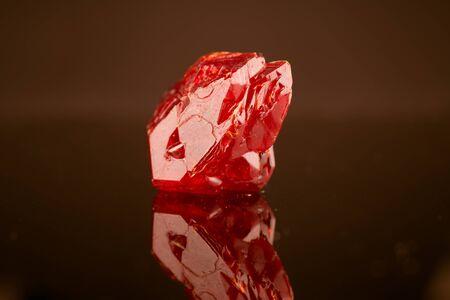 crystal natural mineral on dark background