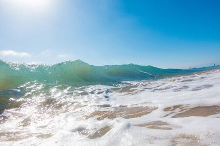 Splash of sea wave Stockfoto