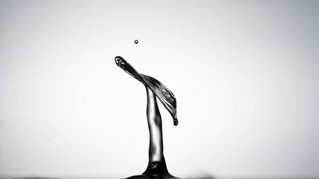 Macro shot of a water drop collision. abstract  water splash