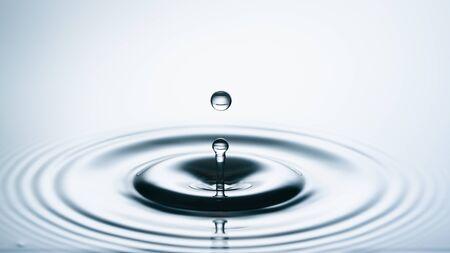 water drop collision. Water splash Banco de Imagens