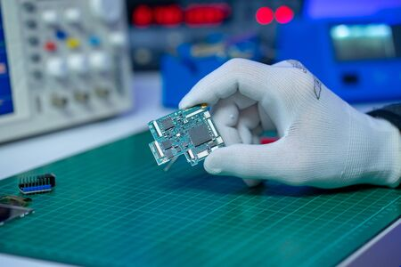 Repair and diagnostic electronics PCB device Imagens