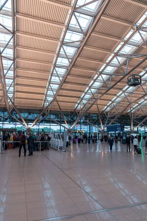 HAMBURG, GERMANY - MAY 20, 2019: Terminal 2 of Hamburg Airport  Hamburg Airport is  Germanys commercial airports Stock Photo