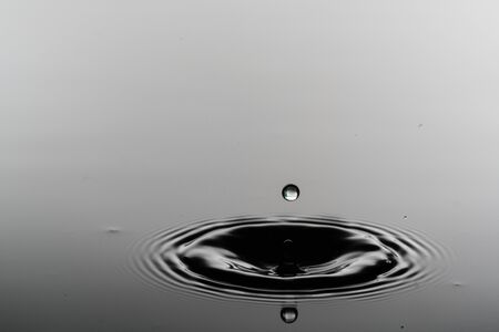 Water surface with droplets