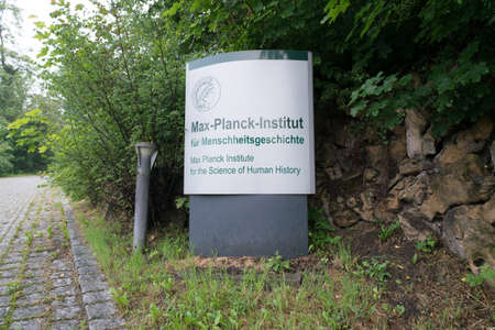 JENA, GERMANY - MAY, 29, 2016:The Max Planck Institute for the Science of Human History (MPI-SHH) in Jena was founded in 2014 to target fundamental questions of human history and evolution since the Paleolithic. 報道画像