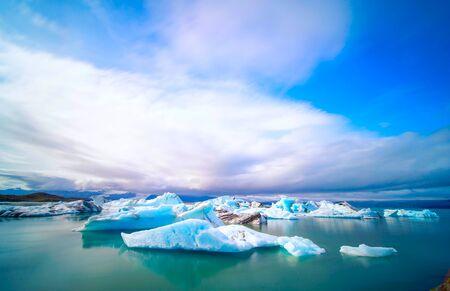 Iceland Lake with Melting Glaciers