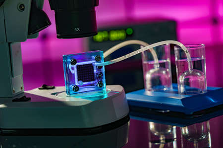 Hydrogen fuel cell in a research laboratory