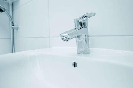 water tap, water mixer, faucet In bathroom 写真素材 - 154994182