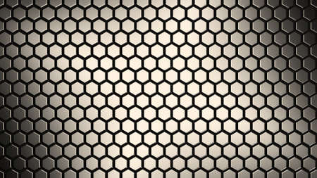 honeycomb abstract technology background 3d rendering