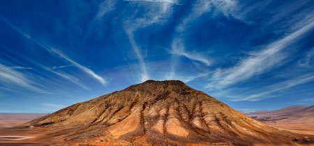 Mountain volcanic landscape, Fuerteventura, Canary Islands, Spain 写真素材 - 154886497