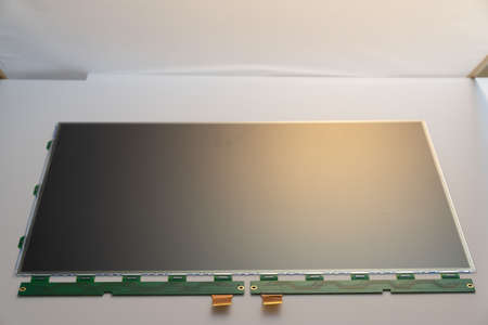 LCD panel for the monitor screen. Computer Repair Spare Part 写真素材 - 154886380